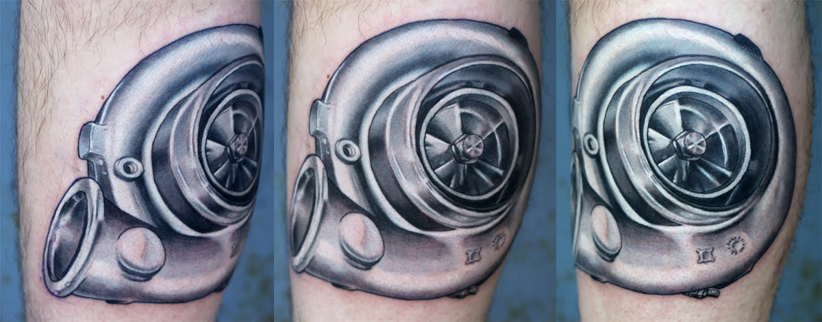 Car Engine In Heart Shape Tattoo On Bicep, Car, Free ...