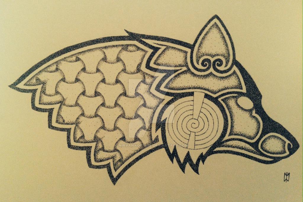 viking geri and freki tattoo design. Black Bedroom Furniture Sets. Home Design Ideas