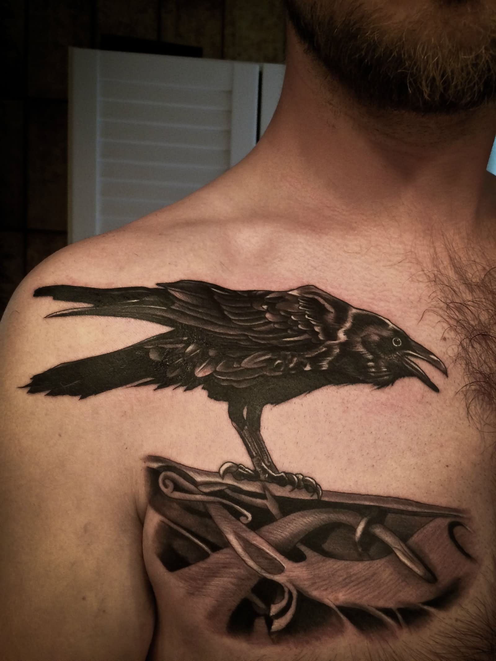 35 Odin S Raven Tattoo Designs Images And Pictures border=
