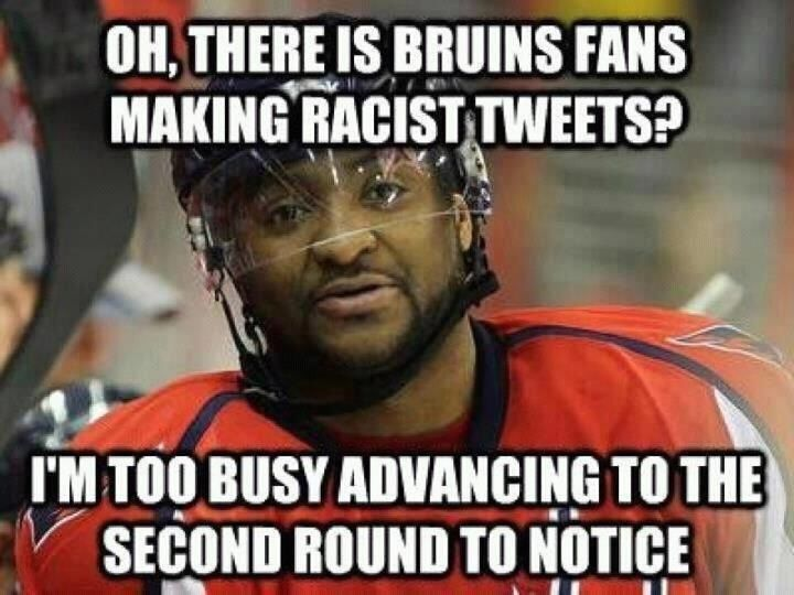 Oh There Is Bruins Fans making Racist Tweets Funny Hockey Meme Picture 45 very funny hockey meme pictures and images