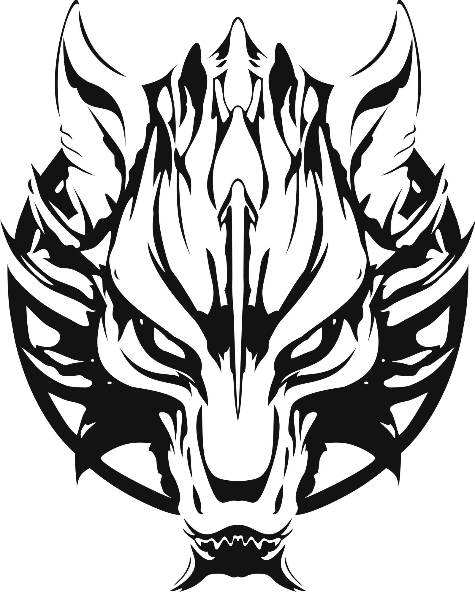 d9a82cb89 Outline Fenrir Tattoo Design by Milhamethyz