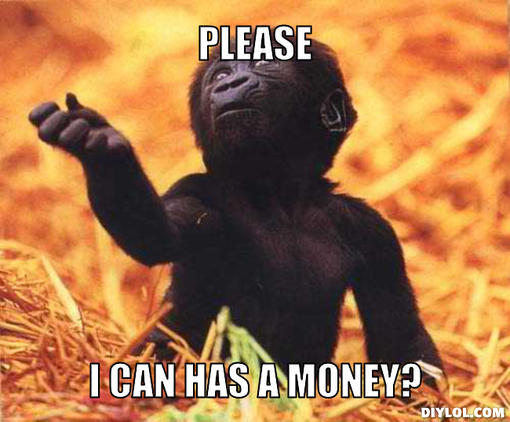 Please I Can Has A Money Funny Monkey Meme Image 35 most funny monkey meme pictures and images,Money Please Meme
