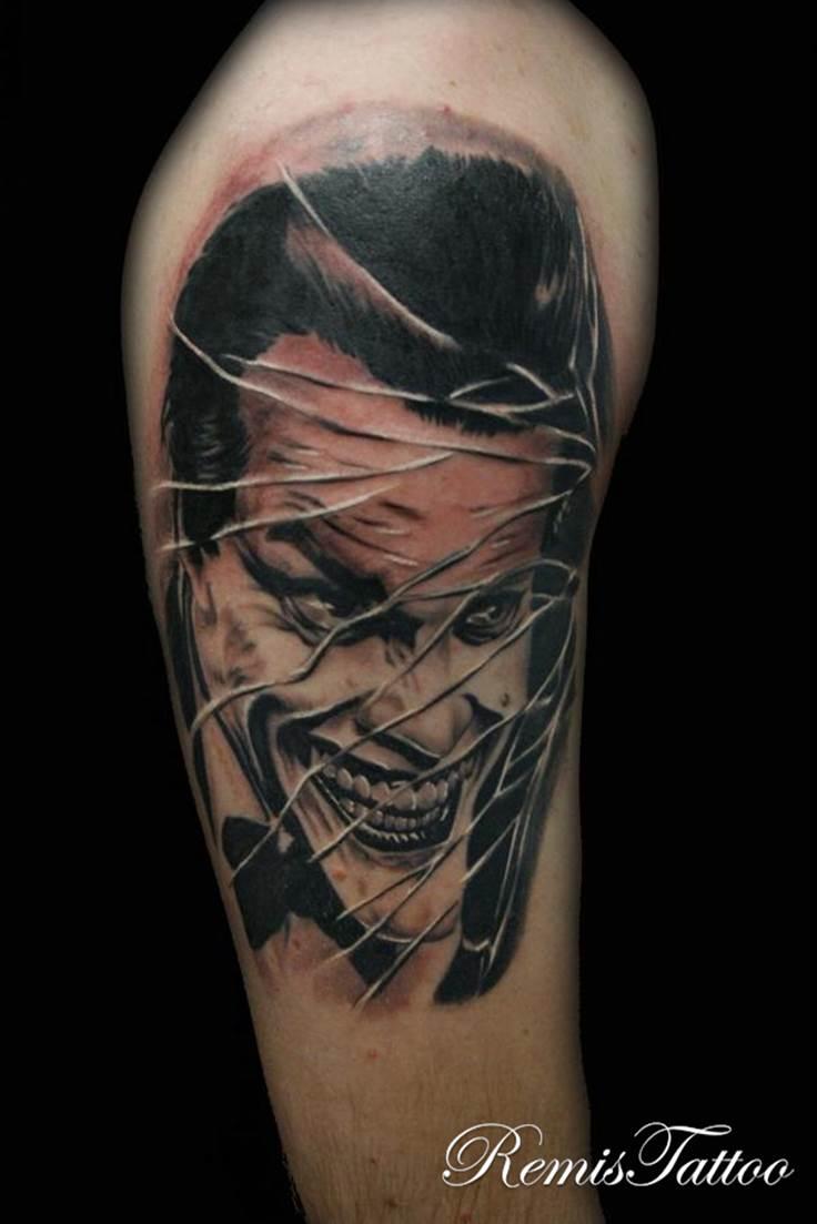 10 joker tattoos for bicep for The joker tattoo
