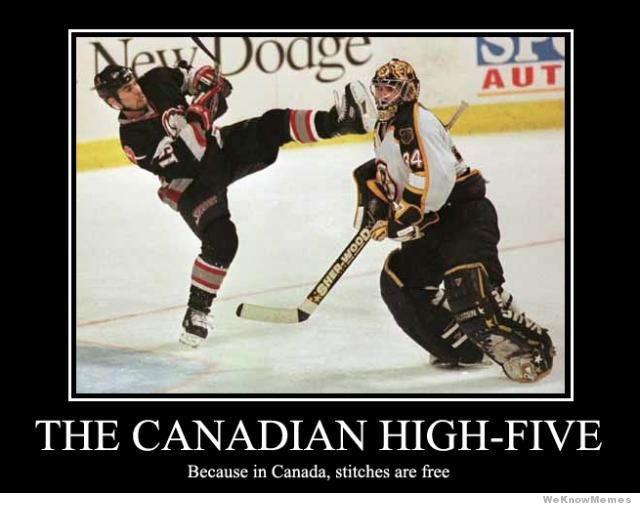The Canadian High Five Funny Hockey Meme Poster 45 very funny hockey meme pictures and images,Funny Canada Meme