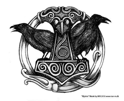35 odin s raven tattoo designs images and pictures. Black Bedroom Furniture Sets. Home Design Ideas