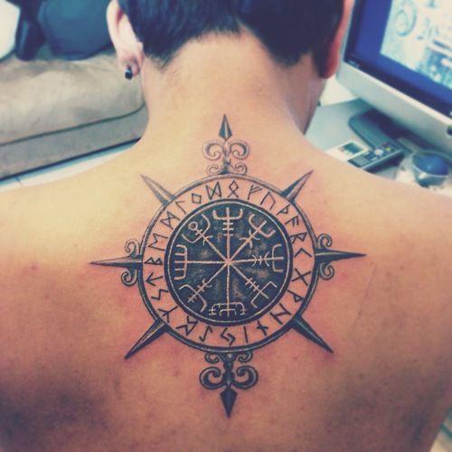 Upper Back Scandinavian Tattoo