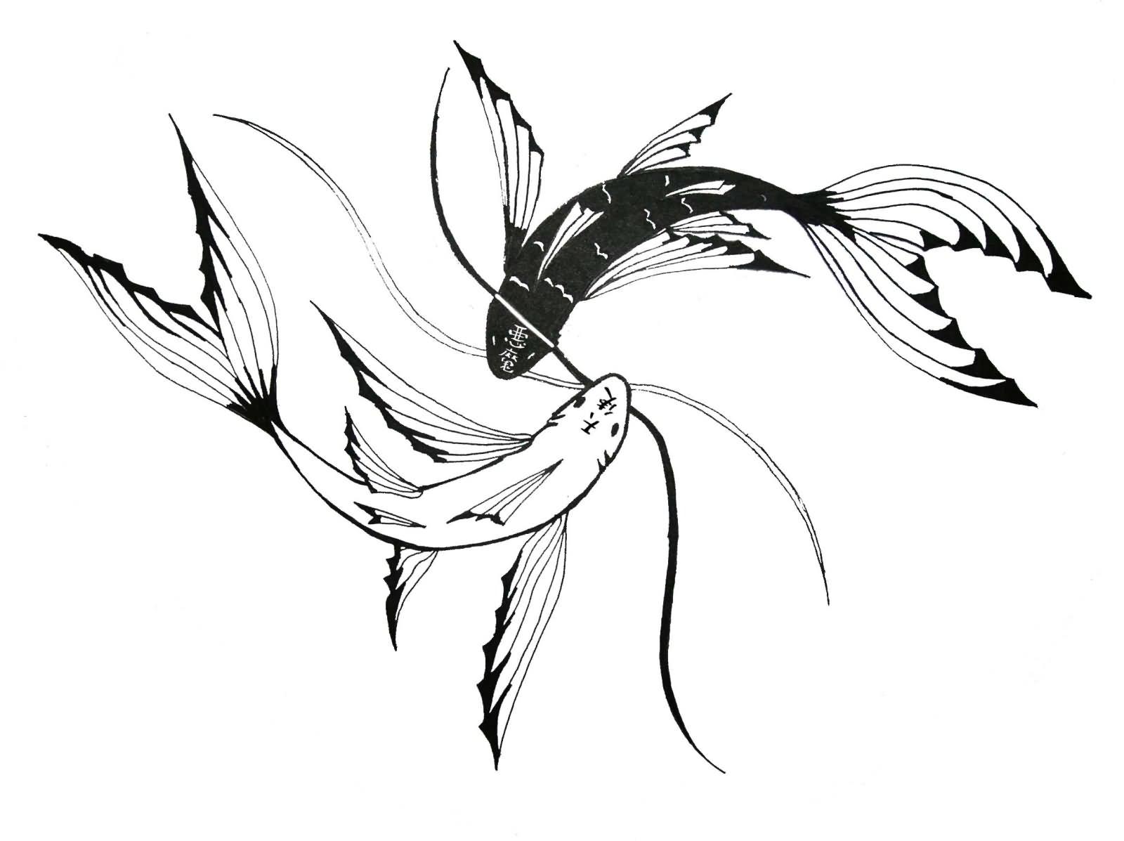 30 yin yang fish tattoo designs
