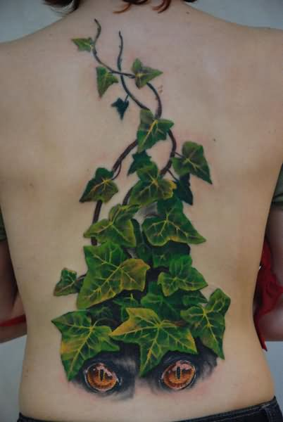f9c8d44a7 3D Ivy Vine Tattoo On Full Back