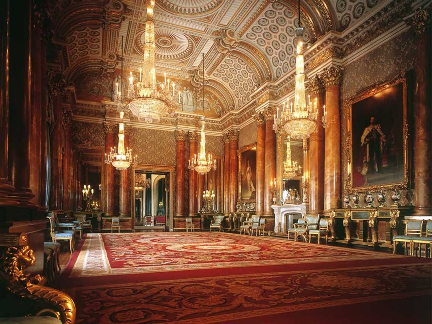Adorable Interior Of The Buckingham Palace - THE MOST BEAUTIFUL INTERIOR PICTURES OF BUCKINGHAM PALACE LONDON