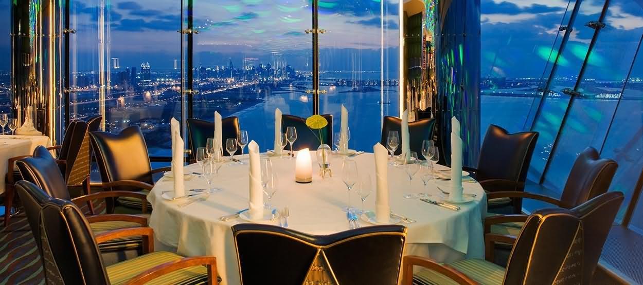 Al Muntaha Restaurant Inside Burj Al Arab Dubai