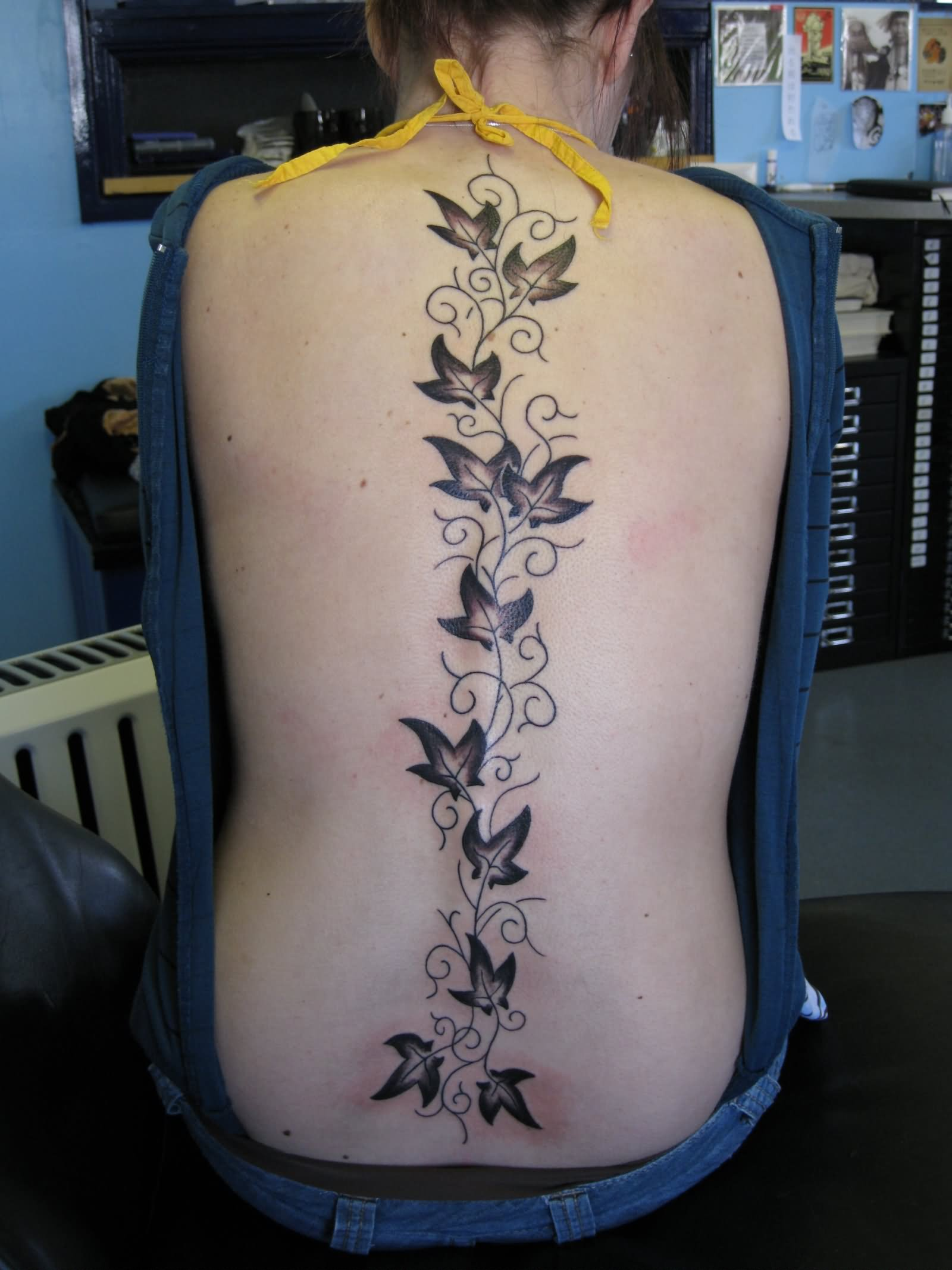 9e5825eed Amazing Black Ivy Vine Tattoo On Full Back