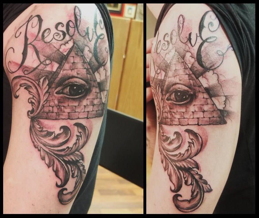 Pyramid Eye Tattoo: 35+ Incredible Pyramid Tattoos