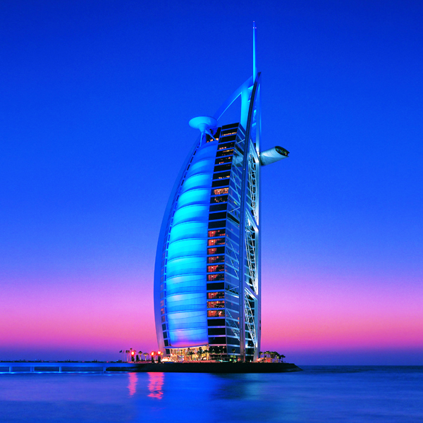 Amazing picture of the burj al arab for Dubai 7 star hotel name