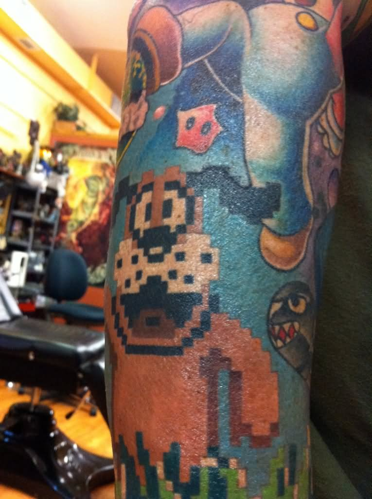 17 video game tattoos ideas for sleeve for The game tattoos