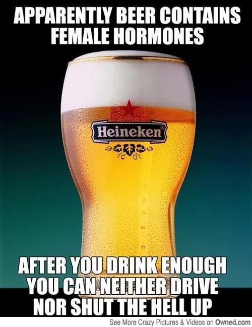 Apparently Beer Contains Famale Hormones Funny Meme Picture apparently beer contains female hormones funny meme picture