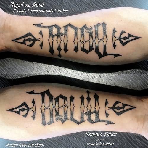16 word tattoos on forearm. Black Bedroom Furniture Sets. Home Design Ideas