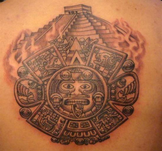 b5c9cd15a Aztec With Pyramid Tattoo Design