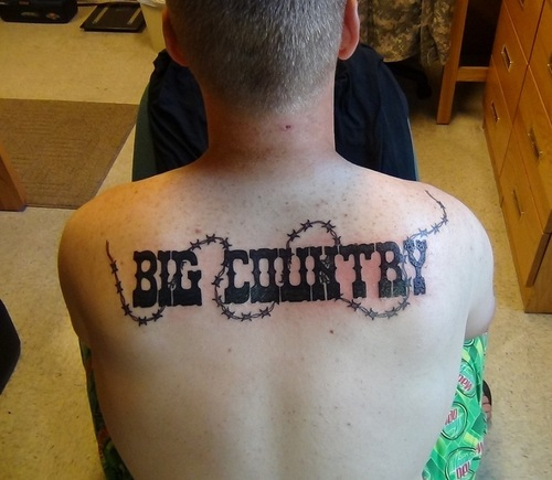10 country tattoos on upper back for Country tattoo ideas