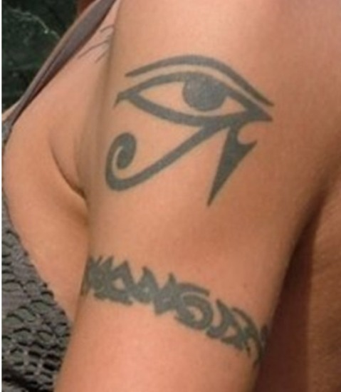 50 awesome egyptian tattoos for Cross tattoo under left eye meaning