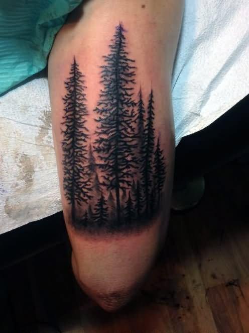 32 Nice Tree Tattoos On Leg