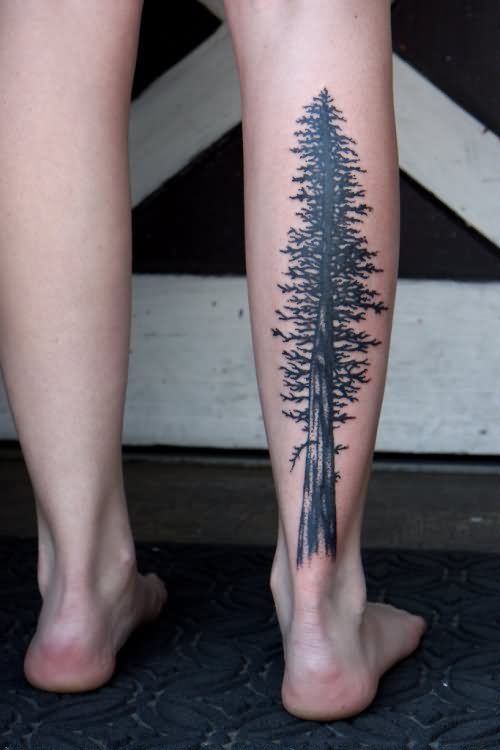 32+ Nice Tree Tattoos On Leg