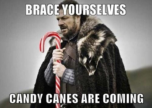Brace Yourselves Candy Canes Are Coming Funny Candy Meme Image brace yourselves candy canes are coming funny candy meme image,Candy Meme