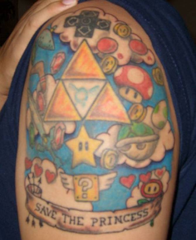 12+ Video Game Tattoos For Shoulder