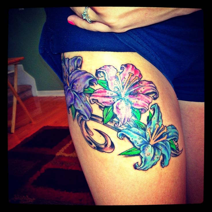 40+ Amazing Flower Leg Tattoos