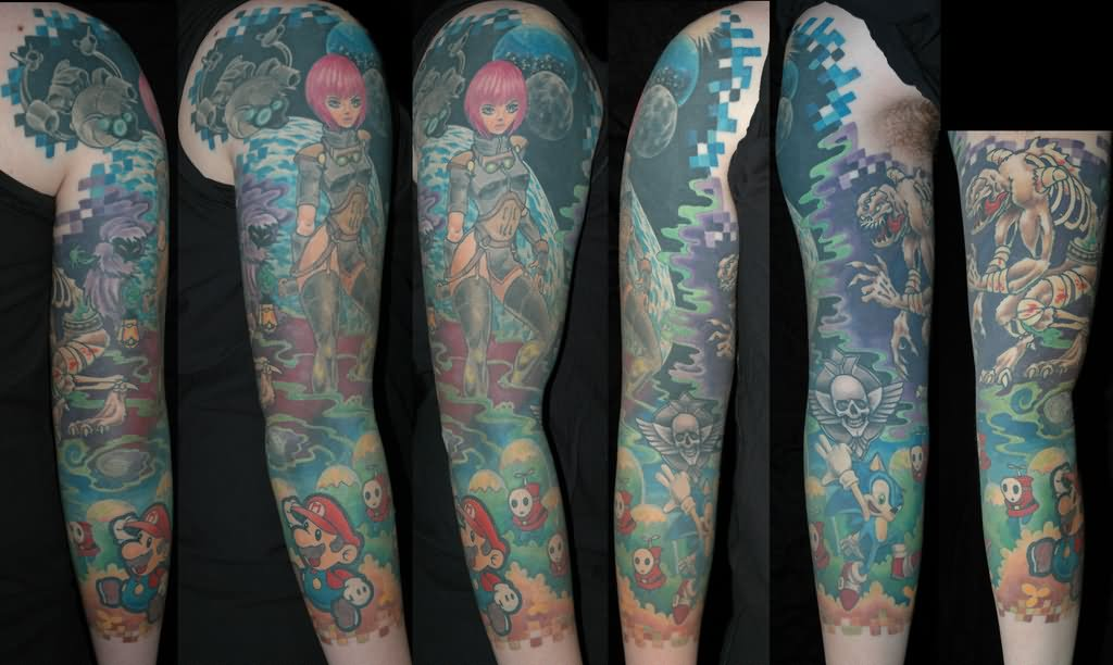 17 Video Game Tattoos Ideas For Sleeve