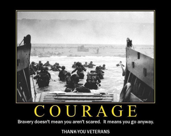 Image result for courage doesn't mean you aren't scared it means you go