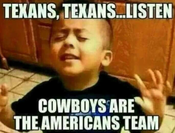 Cowboys Are The American Team Funny Meme Picture dallas cowboys fans funny meme image