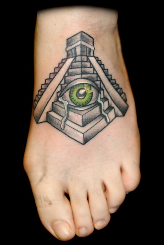 35 incredible pyramid tattoos. Black Bedroom Furniture Sets. Home Design Ideas