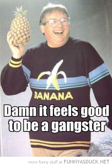 Damn It Feels Good To Be A Gangster Funny Meme Picture