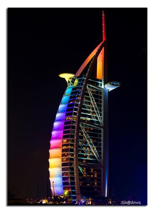35 most incredible night view images of burj al arab dubai for Dubai hotel name