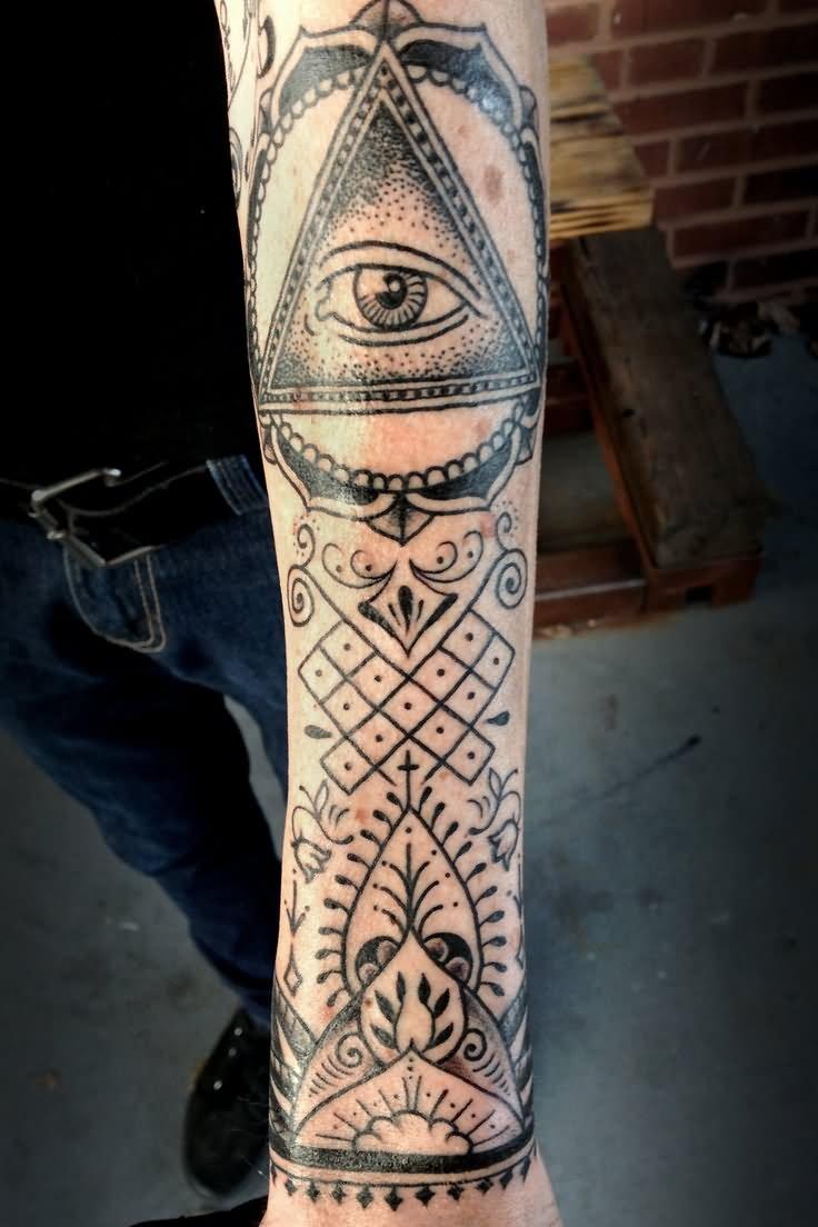 Illuminati Triangle Tattoo 27+ Fantastic Pyramid ...