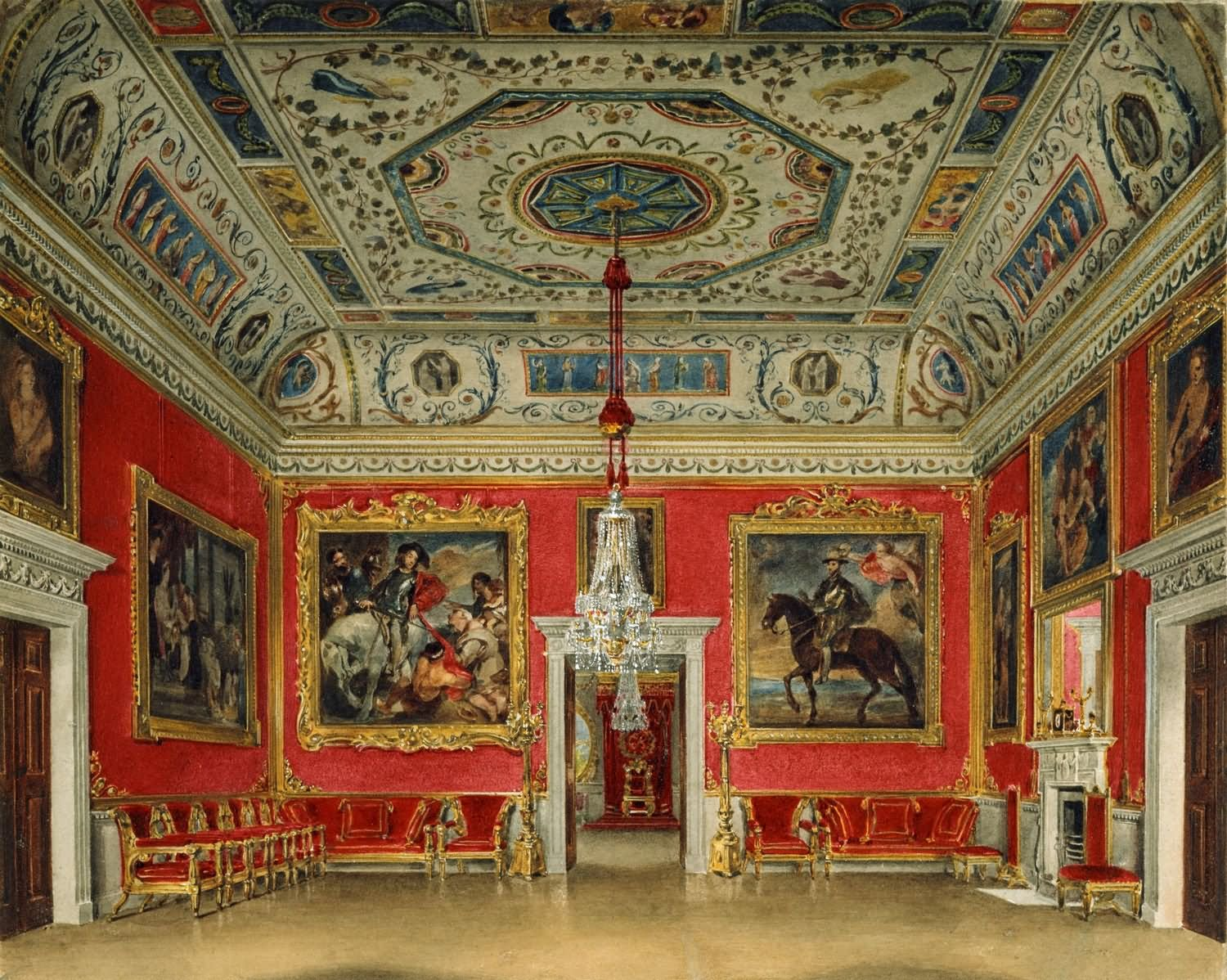 Drawing Room Interior Of The Buckingham Palace - THE MOST BEAUTIFUL INTERIOR PICTURES OF BUCKINGHAM PALACE LONDON