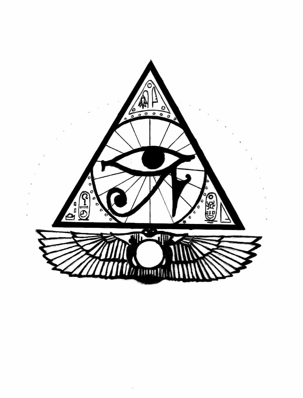 Egyptian Eye Tattoo Design By Rialzeeno