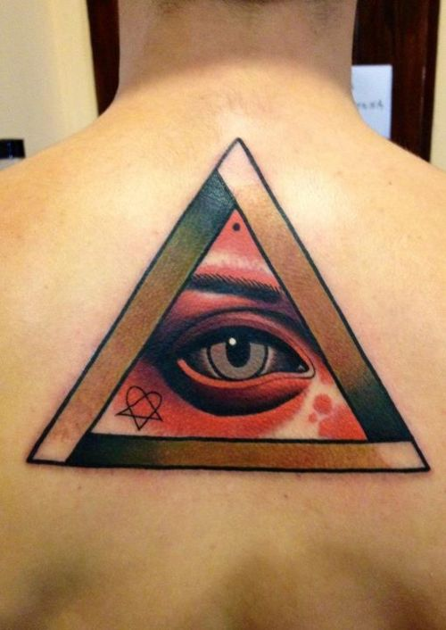 Eye With Triangle Tattoo: 31+ Latest Triangle Tattoos Ideas