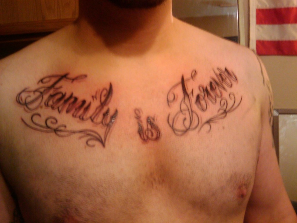 35+ Unique Word Tattoos For Men The Word Family Tattoo Pics