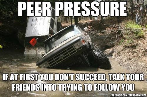 Funny Truck Meme Peer Pressure Picture