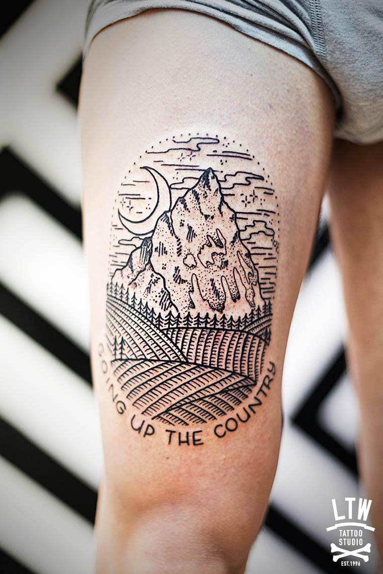 Country by the grace of god tattoo on side rib for Country tattoo ideas
