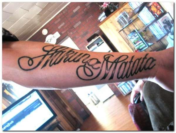 32 word tattoos on arm