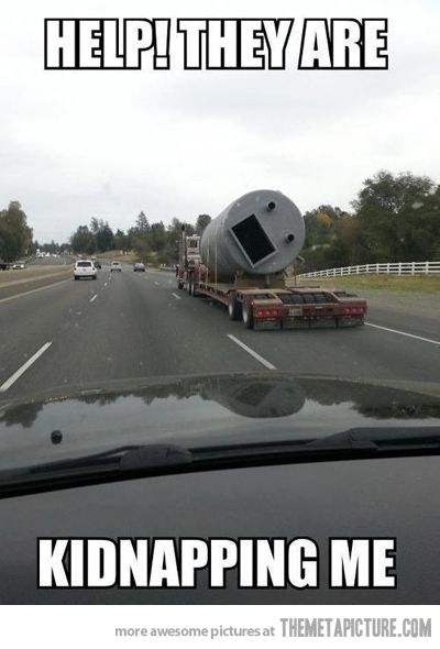 Help They Are Kidnapping Me Funny Truck Meme Image