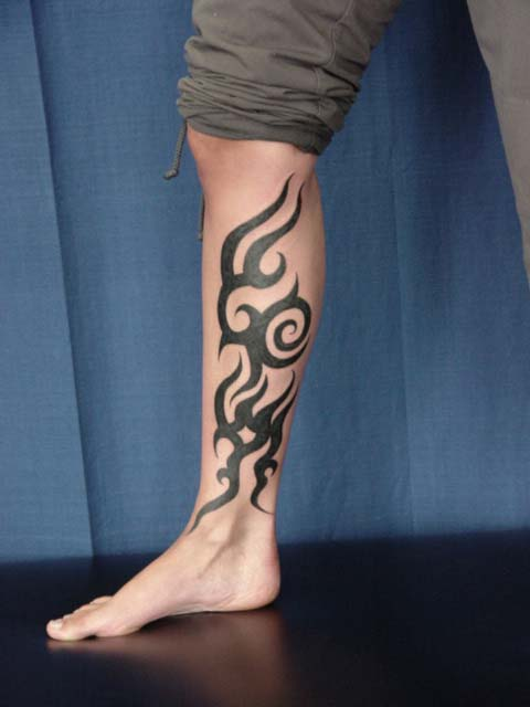 22  best tribal leg tattoos