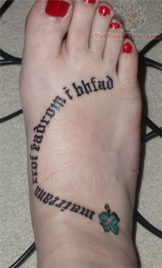 25 beautiful irish tattoos pictures for Shamrock foot tattoo