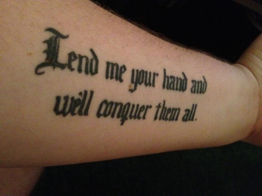 bc5027b4c Lend Me Your Hand Will Conquer Them All Tattoo Design For Men Forearm