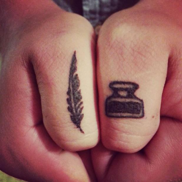 13 literary symbol tattoos. Black Bedroom Furniture Sets. Home Design Ideas
