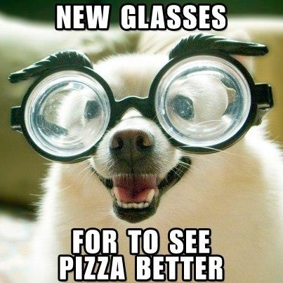 New Glasses For To See Pizza Better Funny Meme Image
