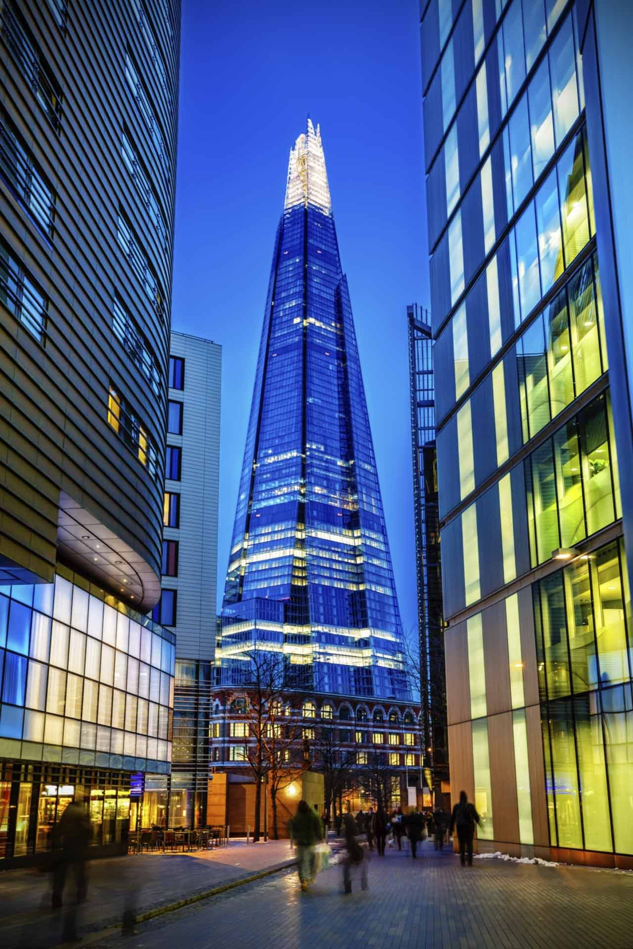 Night View Of The Shard In London