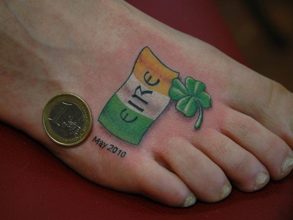 34 amazing irish flag tattoos